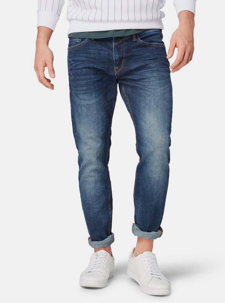 Tmavomodré pánske slim fit rifle Tom Tailor Denim