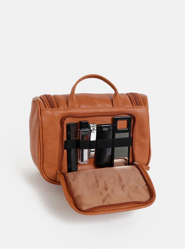 Hnědá kosmetická cestovní taška Portland