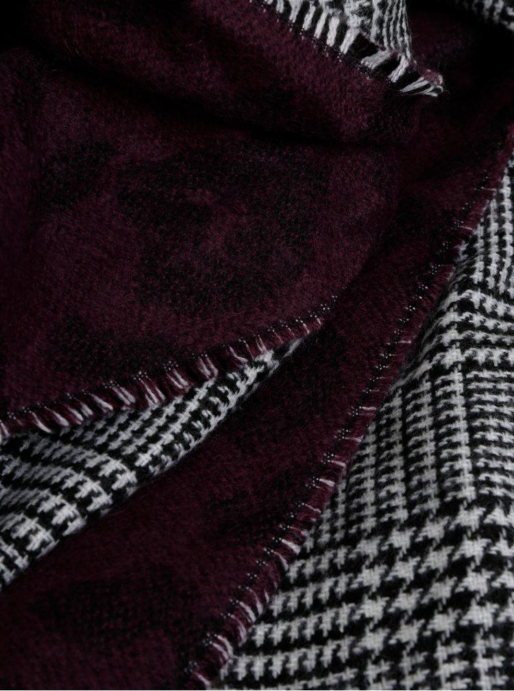 Fialovo-šedá šála s kohoutím vzorem Something Special