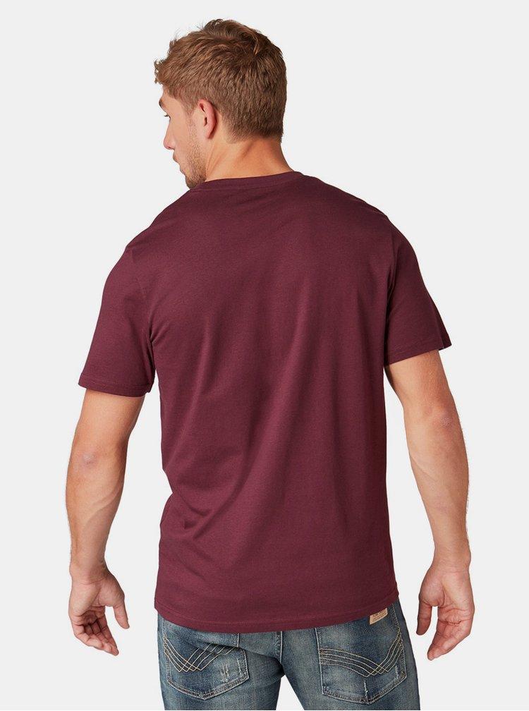 Vínové pánské tričko Tom Tailor