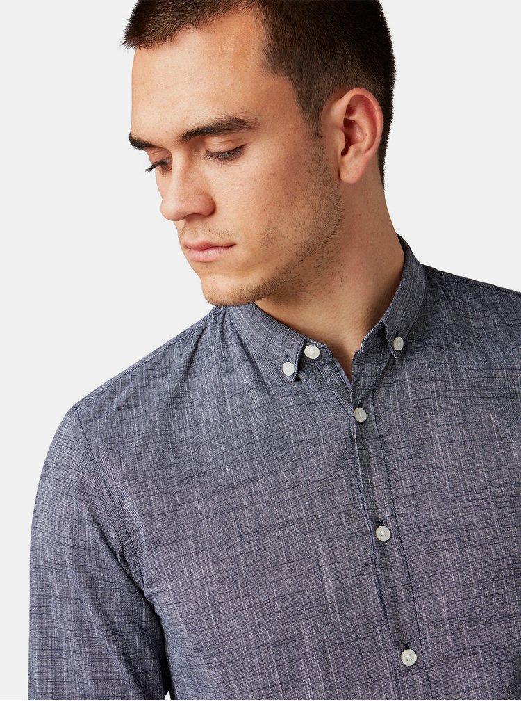 Modrá pánska žíhaná košeľa Tom Tailor