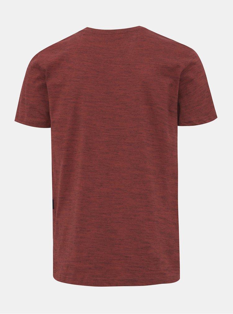 Červené pánské žíhané tričko Tom Tailor Denim