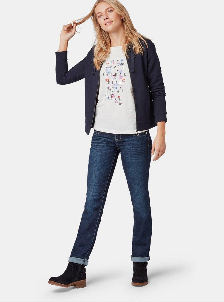 Tmavě modré dámské straight fit džíny Tom Tailor