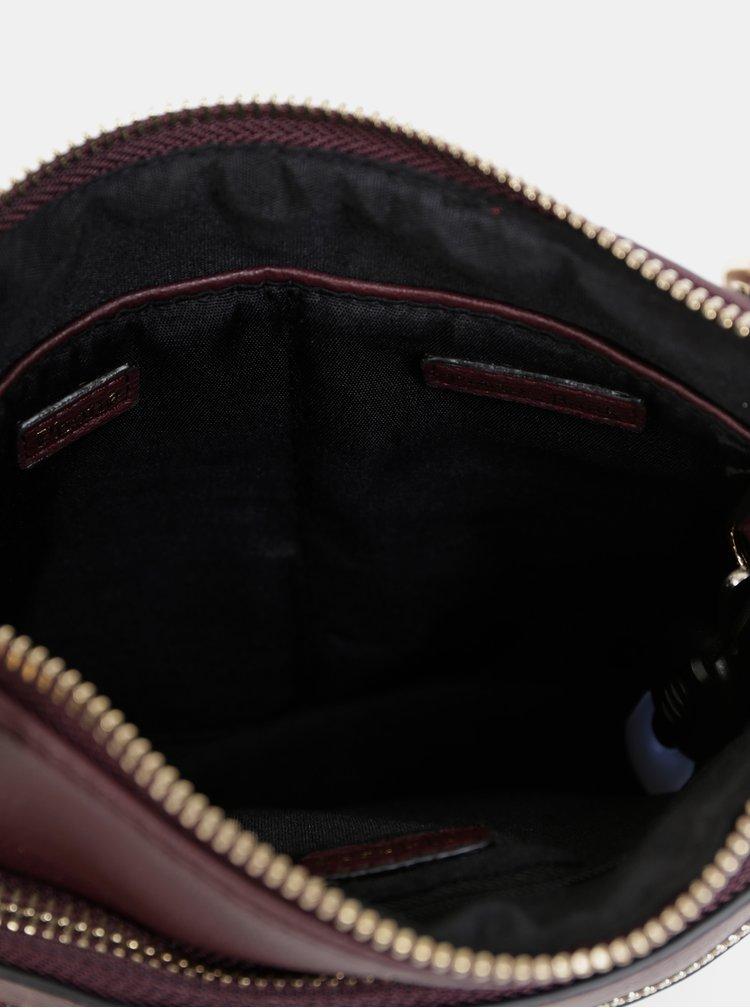 Vínová crossbody kabelka s powerbankou, zápisníkem, propiskou, světýlkem a zrcátkem Something Special