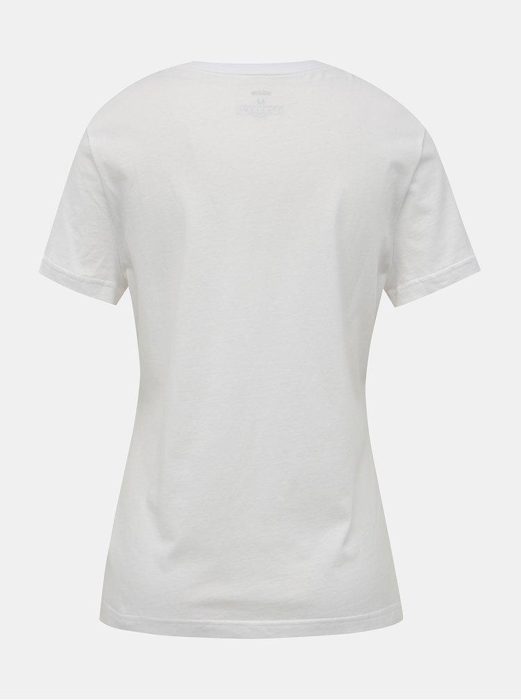 Biele dámske tričko s potlačou adidas CORE