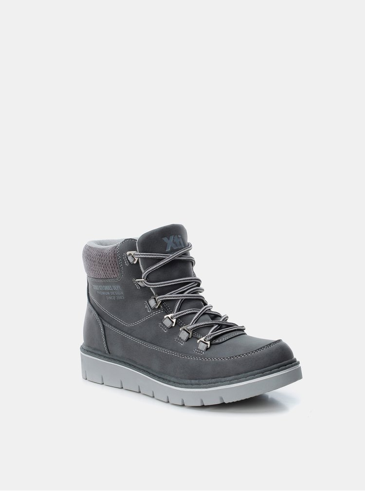 Šedé dámské zimní kotníkové boty Xti