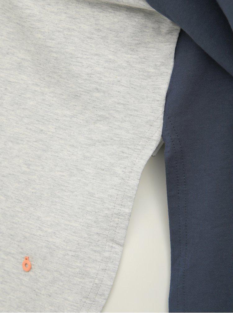 Modro-šedá mikina s rozparky na stranách Kari Traa Bjorgum