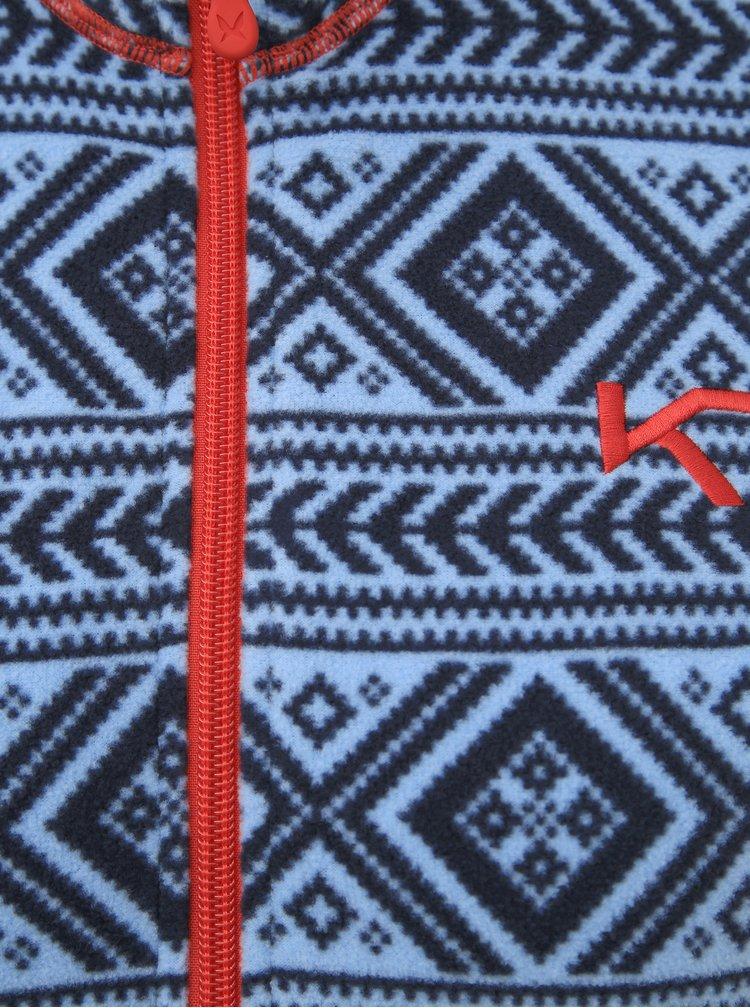 Modrá vzorovaná fleecová mikina Kari Traa Flette