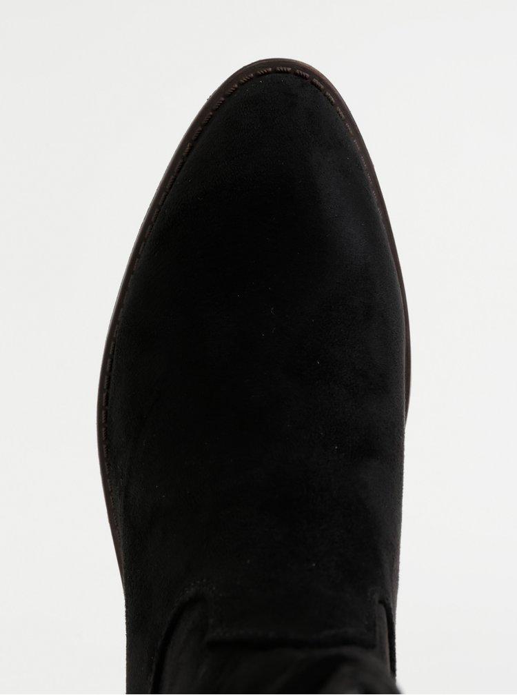 Černé dámské nízké kozačky v semišové úpravě Xti