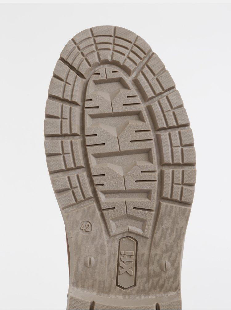 Hnedé pánske členkové topánky Xti