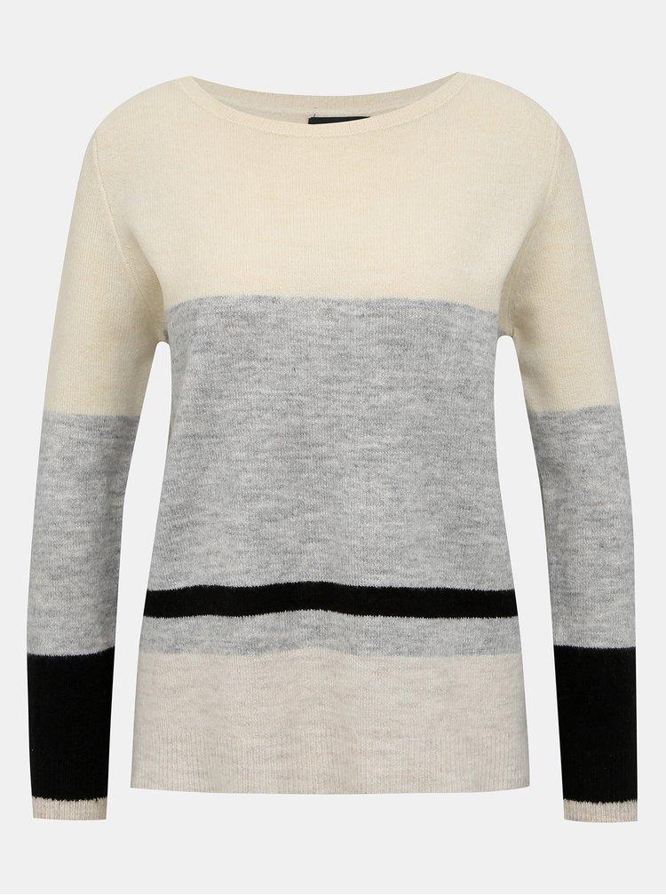 Šedo-krémový sveter M&Co