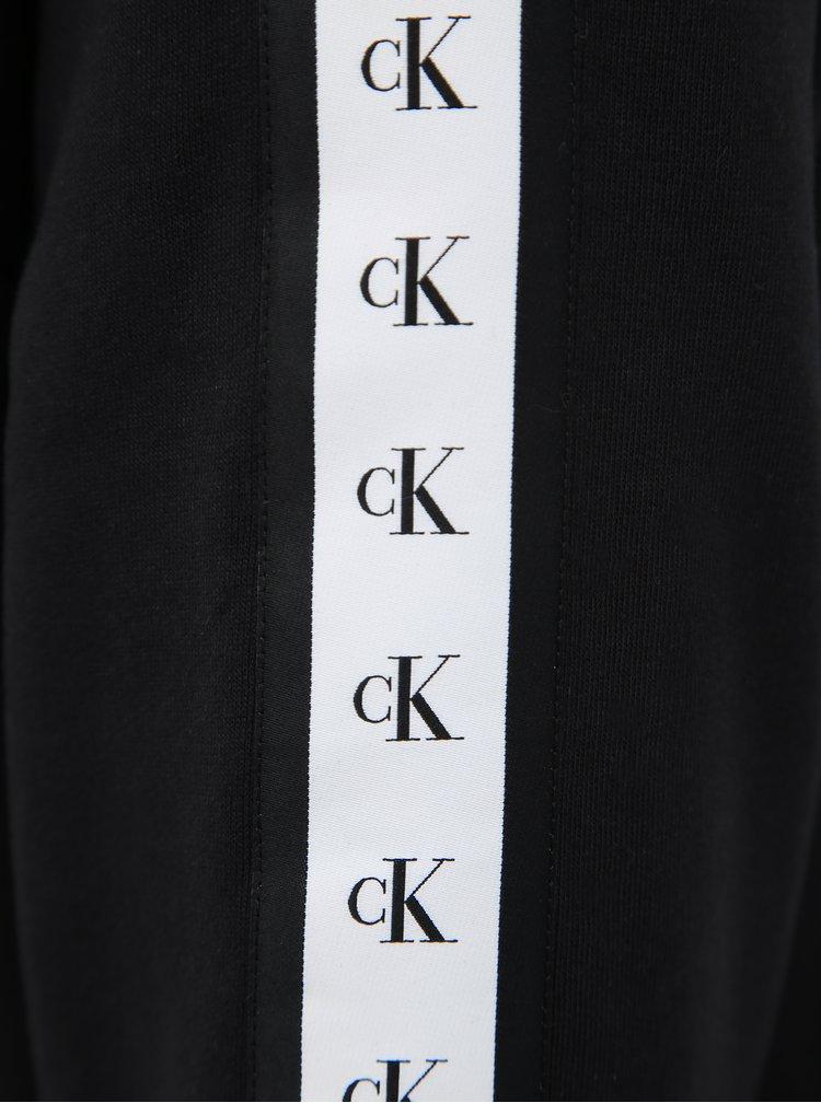 Černá pánská mikina s lampasem Calvin Klein Jeans