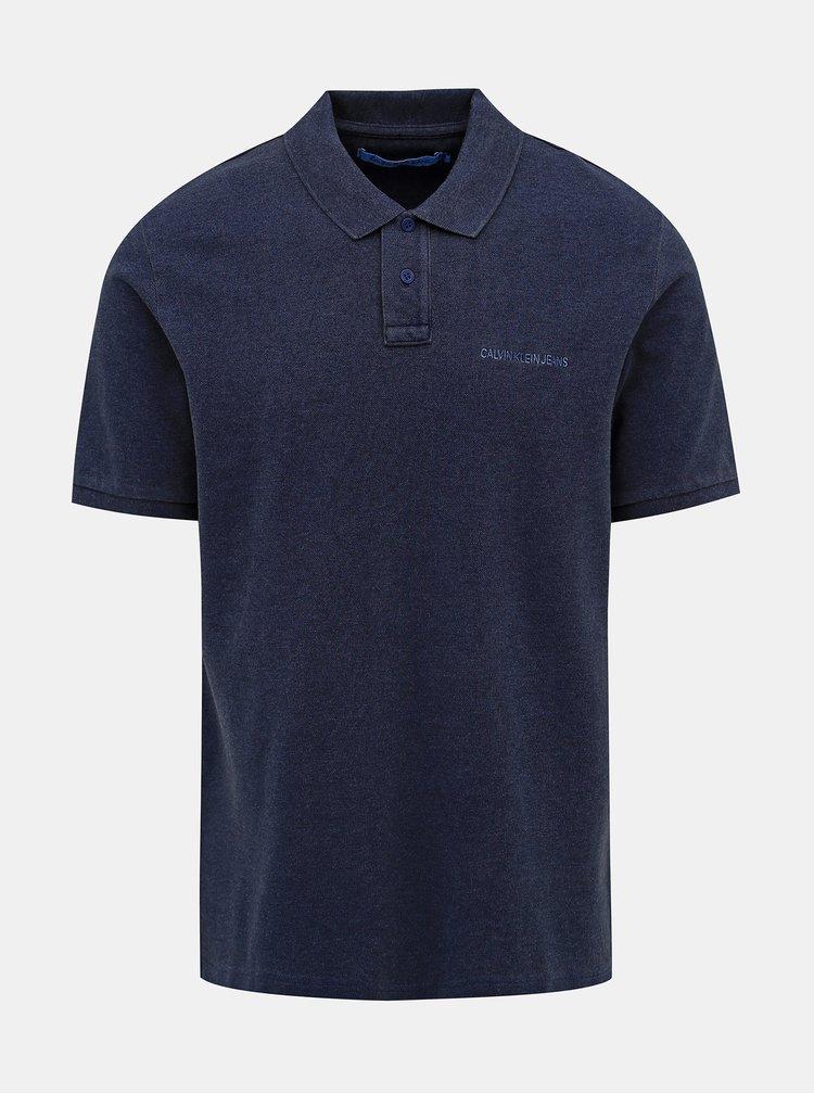 Tmavě modré pánské polo tričko Calvin Klein Jeans
