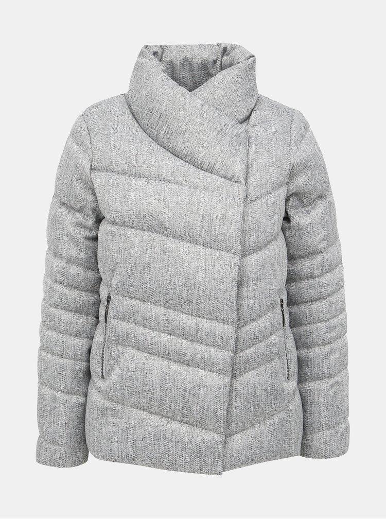 Šedá zimná prešívaná bunda M&Co
