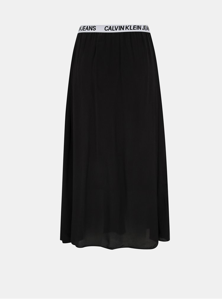 Čierna midi sukňa Calvin Klein Jeans