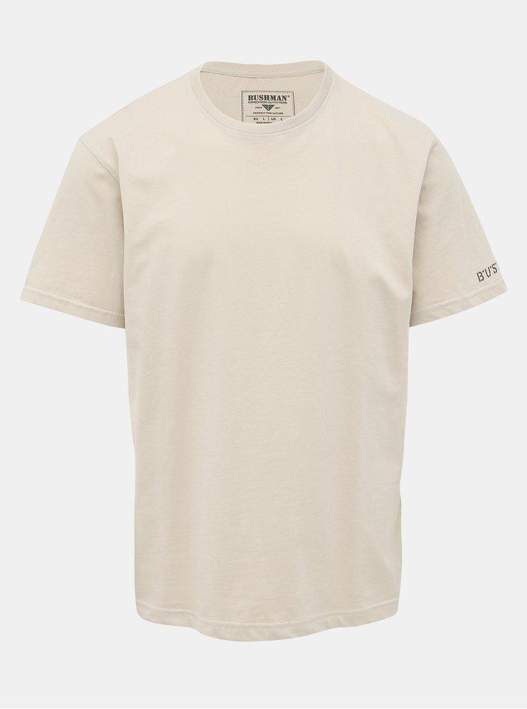 Béžové pánske tričko s potlačou BUSHMAN Arvin