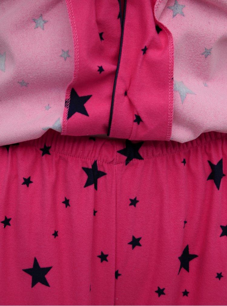 Růžové vzorované dvoudílné pyžamo M&Co