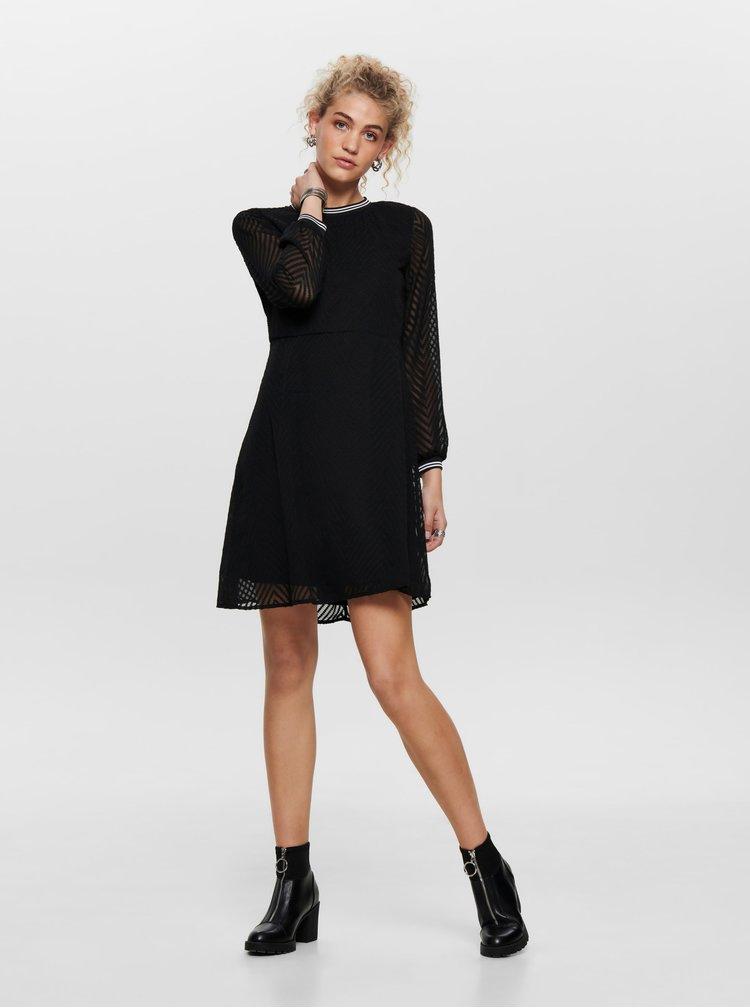 Čierne šaty ONLY Lina