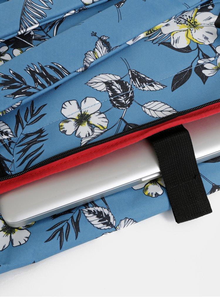 Světle modrý dámský květovaný batoh The Pack Society