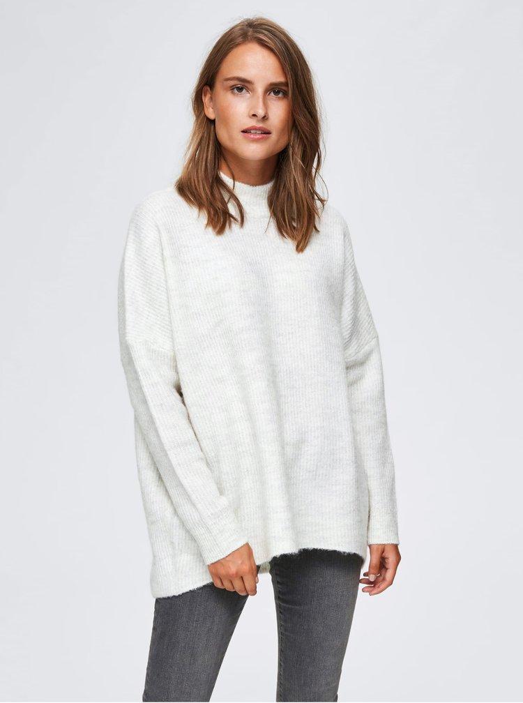 Krémový svetr s příměsí vlny Selected Femme Fenica