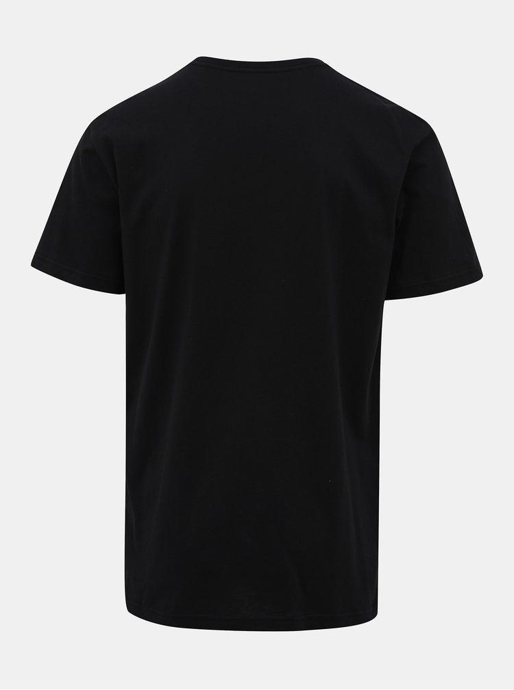 Čierne tričko s potlačou  Quiksilver High Speed