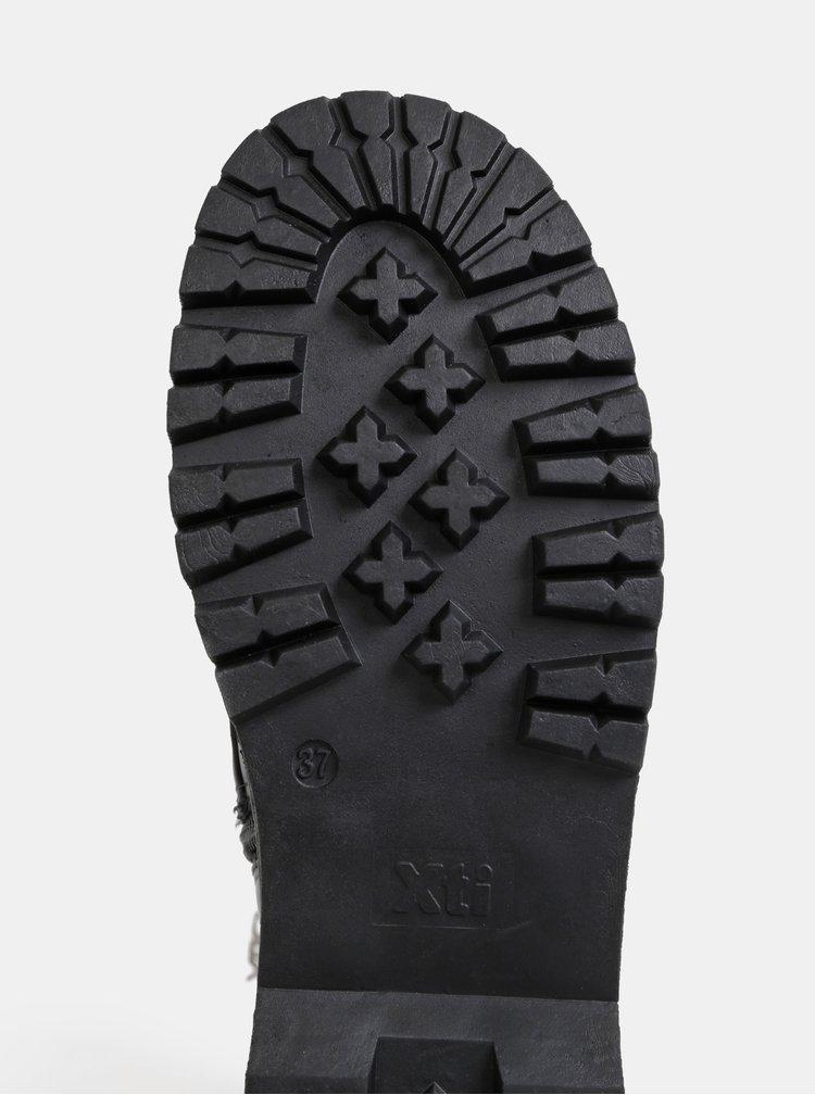 Čierne čižmy na platfome Xti