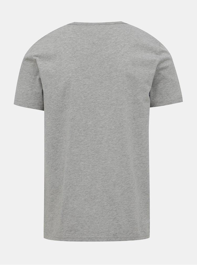 Šedé pánské basic tričko Tommy Hilfiger