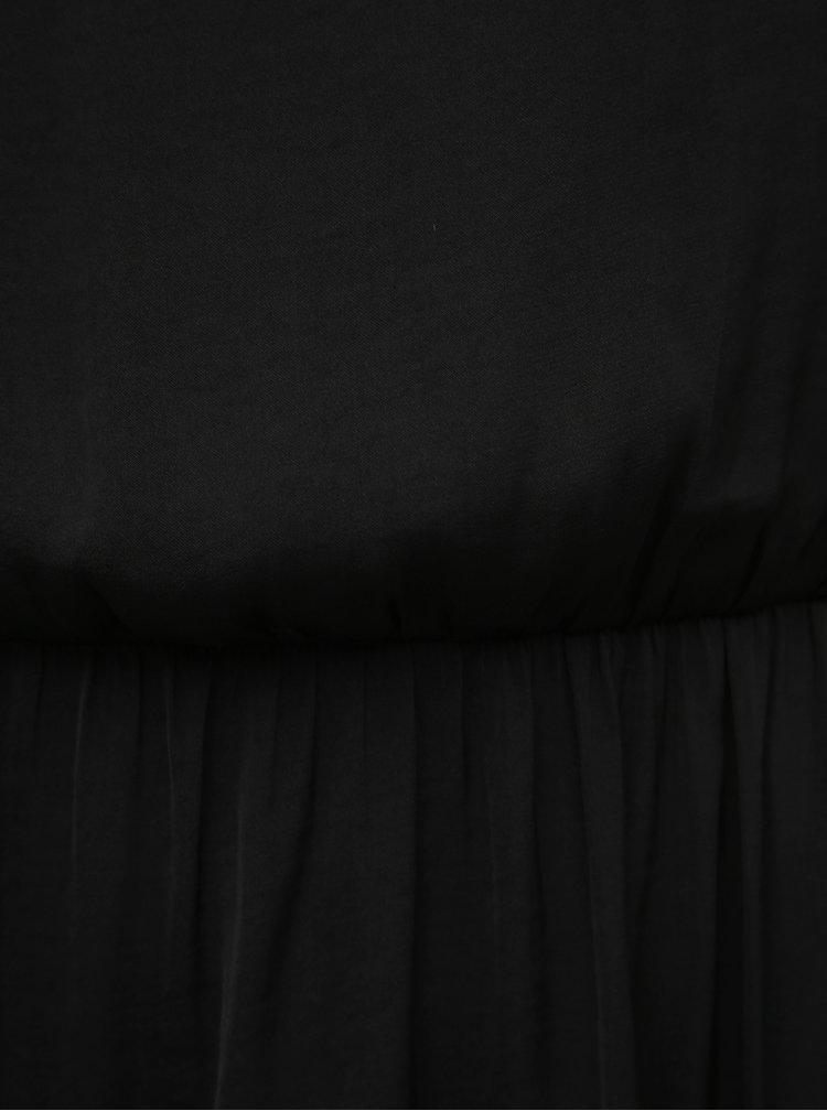 Čierne šaty na ramienka Jacqueline de Yong