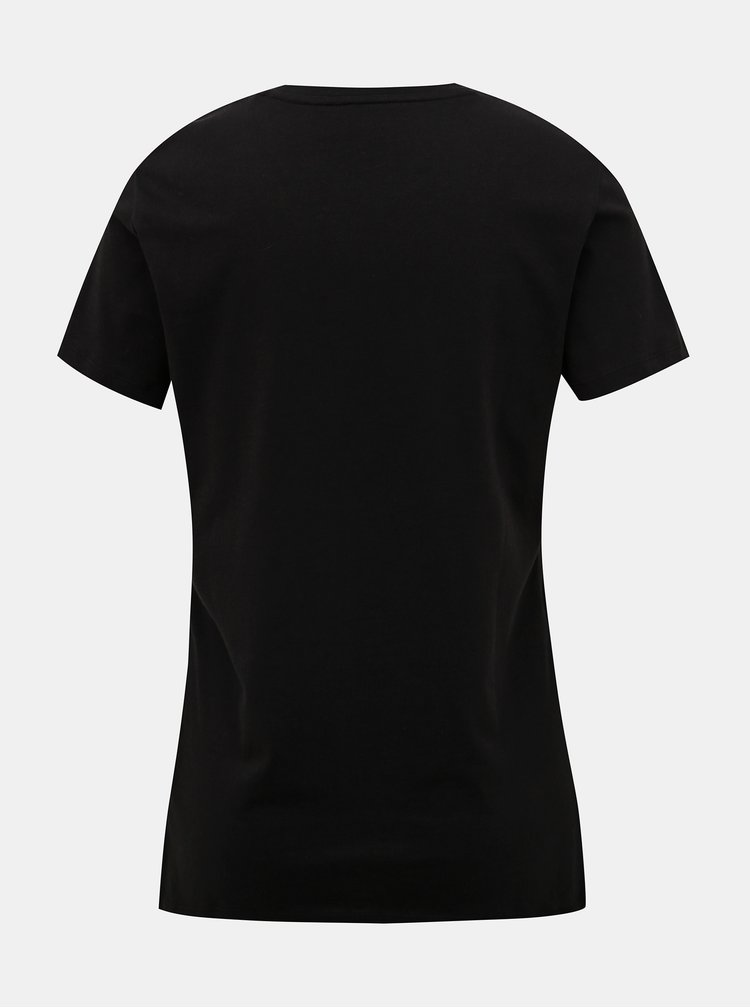 Čierne dámske basic tričko Tommy Hilfiger Heritage