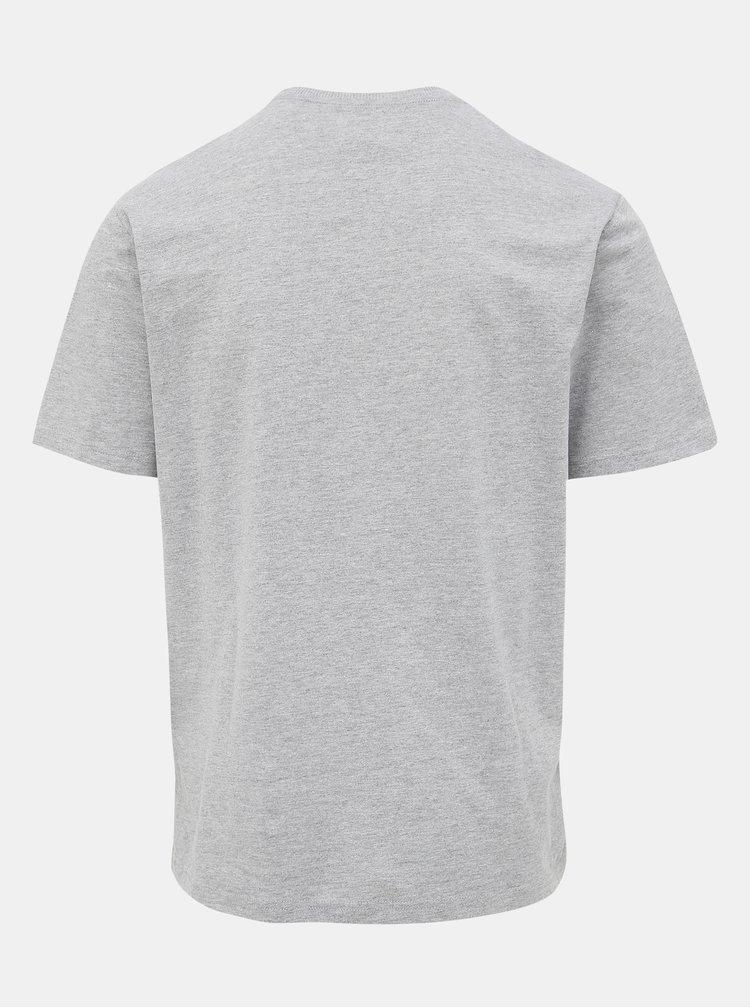 Šedé tričko s potlačou ONLY & SONS Modalu