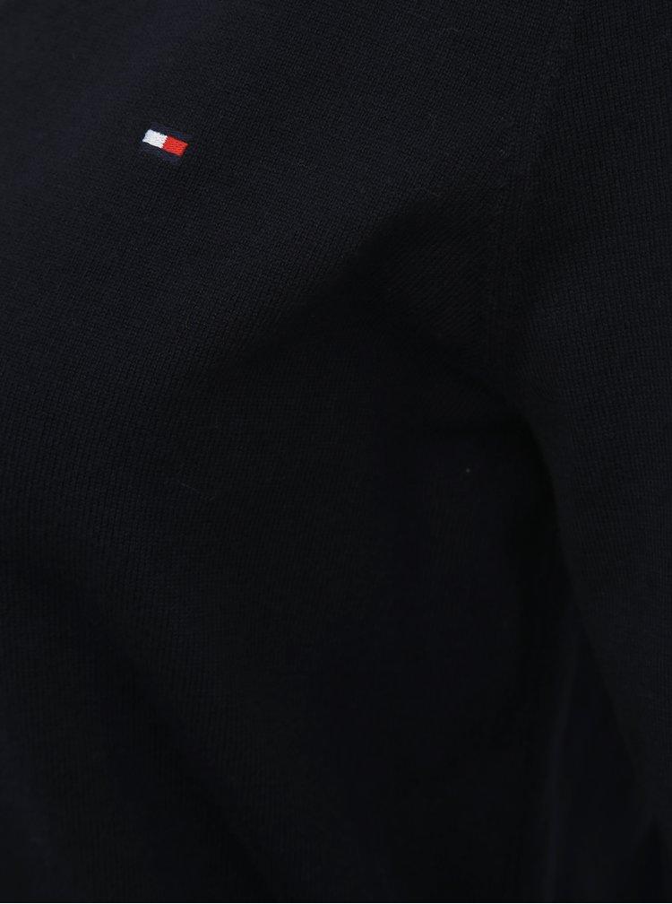 Tmavě modrý dámský basic svetr Tommy Hilfiger Heritage
