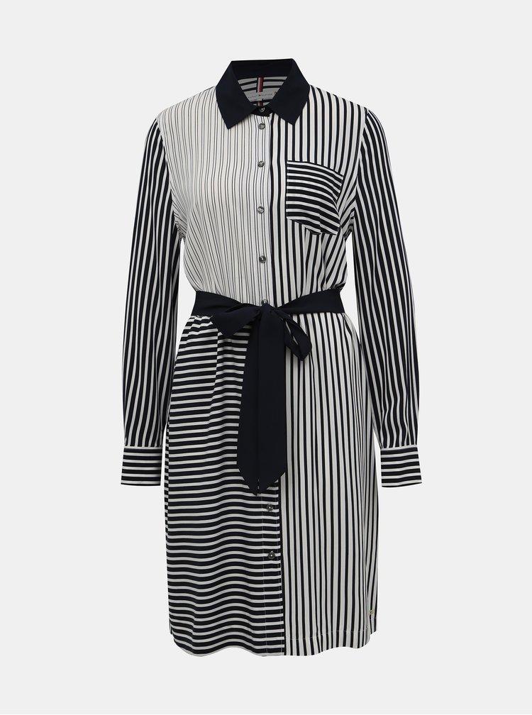 Modro-biele pruhované košeľové šaty Tommy Hilfiger Angie