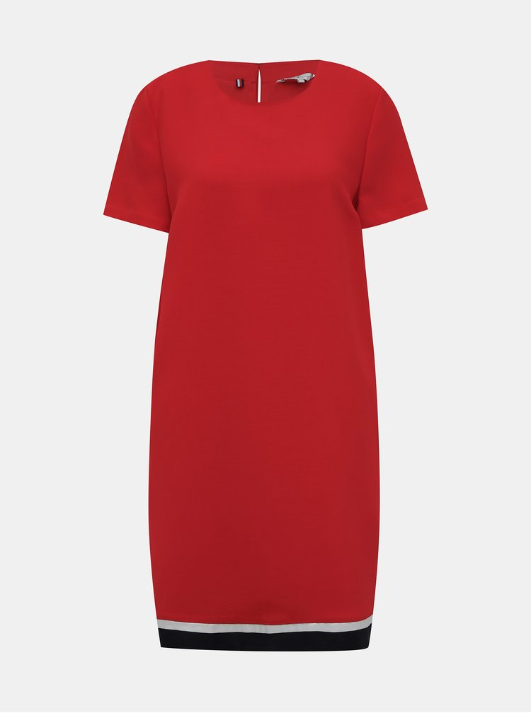 Červené šaty Tommy Hilfiger Anita