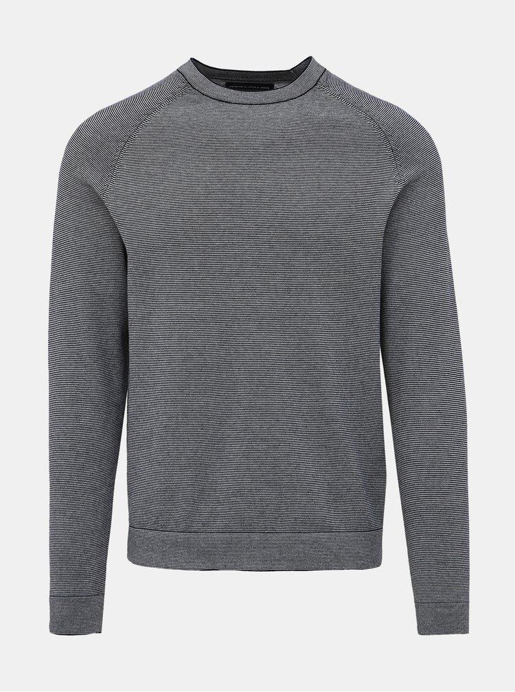 Tmavomodrý pruhovaný sveter Jack & Jones Louis