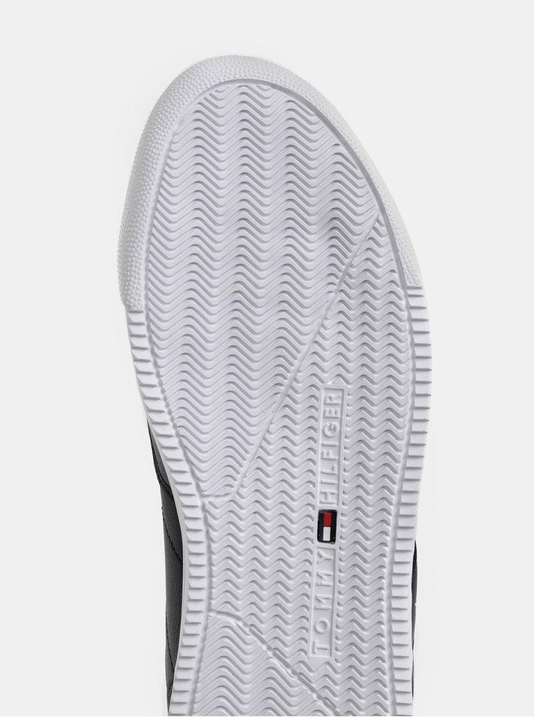Tmavomodré pánske kožené tenisky Tommy Hilfiger