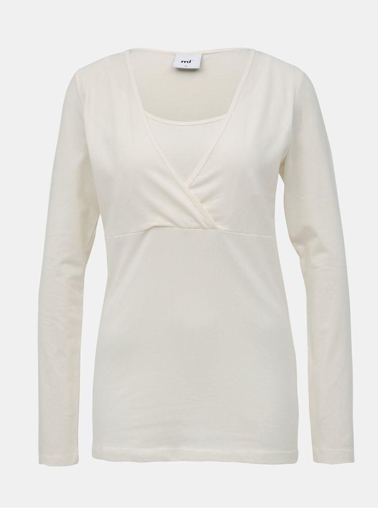 Sada dvoch tehotenských/dojčiacich basic tričiek v bielej a čiernej farbe Mama Licious Lea