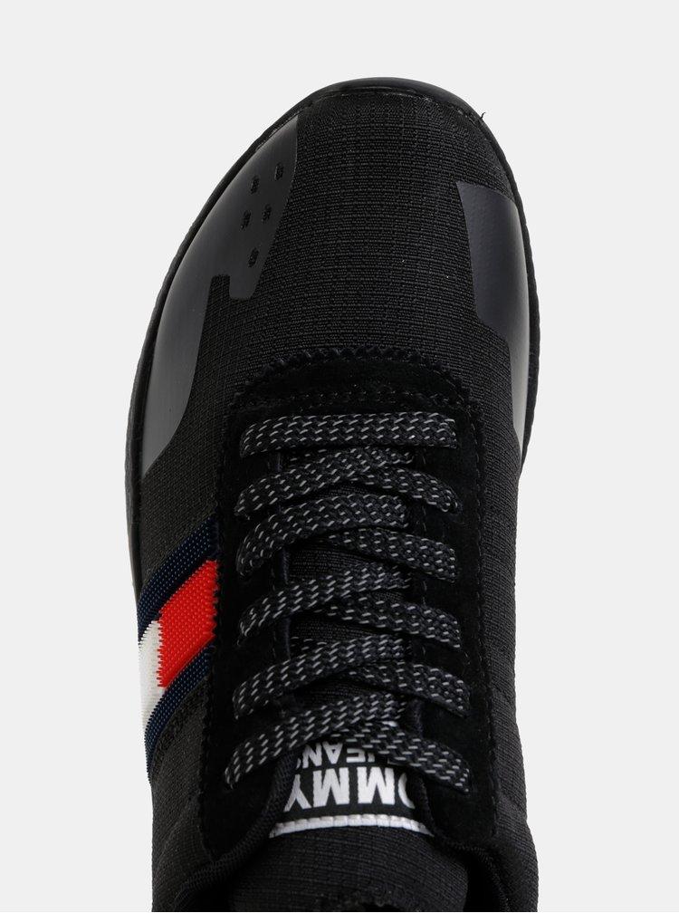 Černé dámské tenisky Tommy Hilfiger Technical Pin