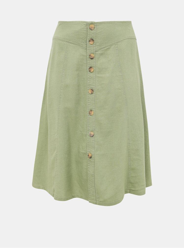 Svetlozelená midi sukňa ONLY CARMAKOMA Palm