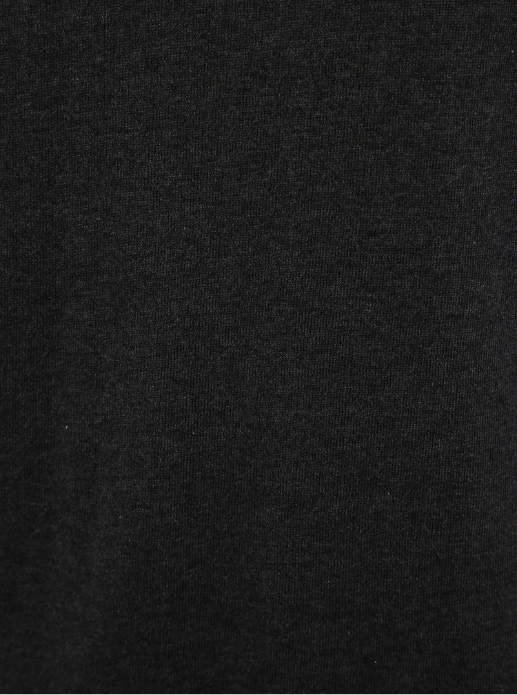 Tmavošedé basic tričko s prímesou hodvábu Selected Homme Dome