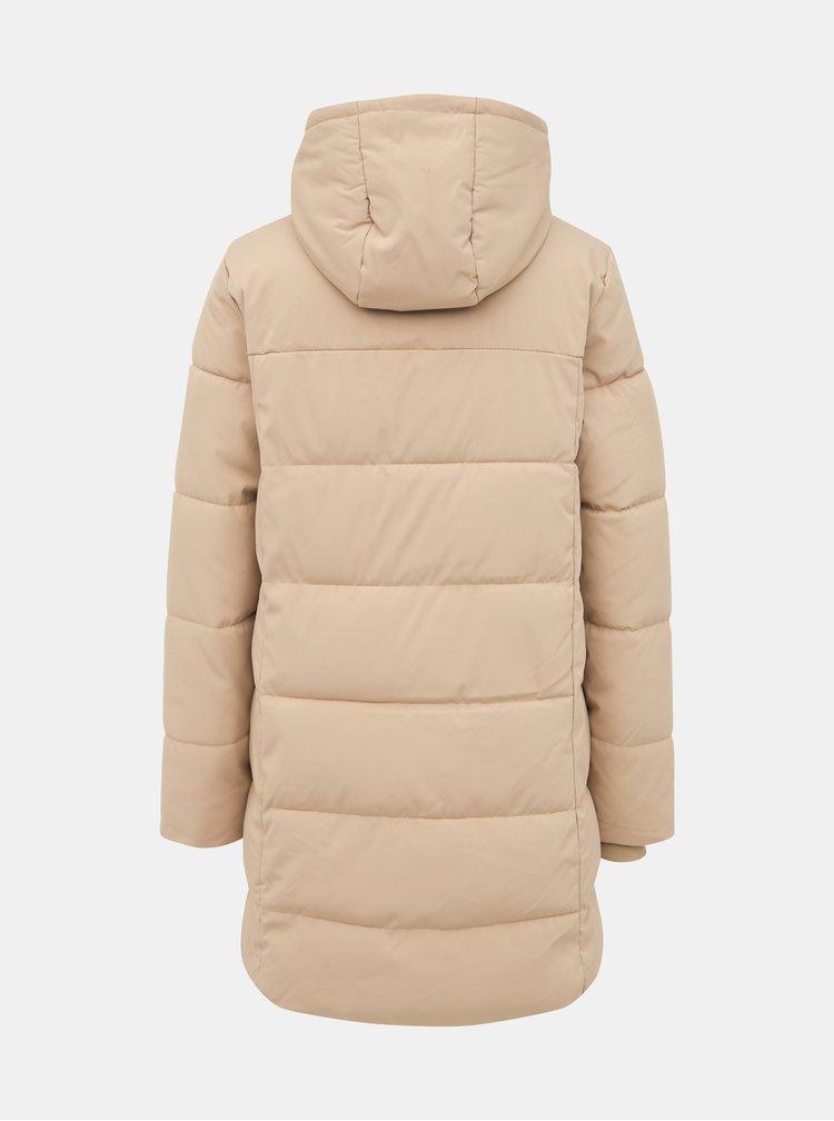 Béžový prešívaný kabát ONLY Lalana
