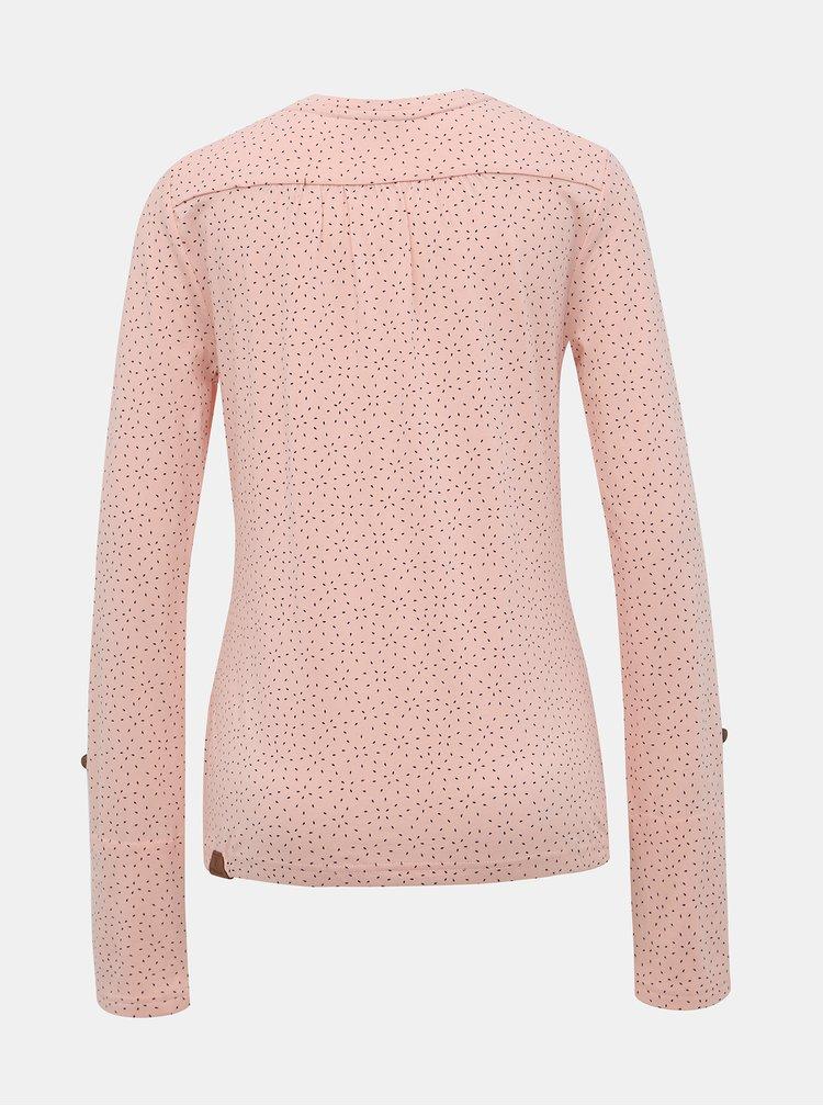 Růžové dámské vzorované tričko Ragwear Pinch