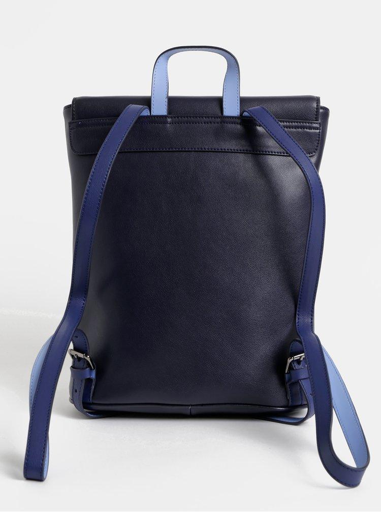Tmavě modrý kožený batoh Smith & Canova