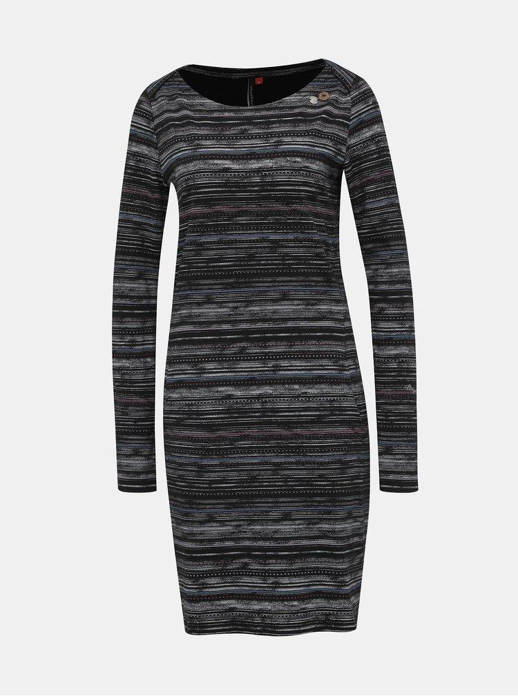 Čierne vzorované šaty Ragwear River print
