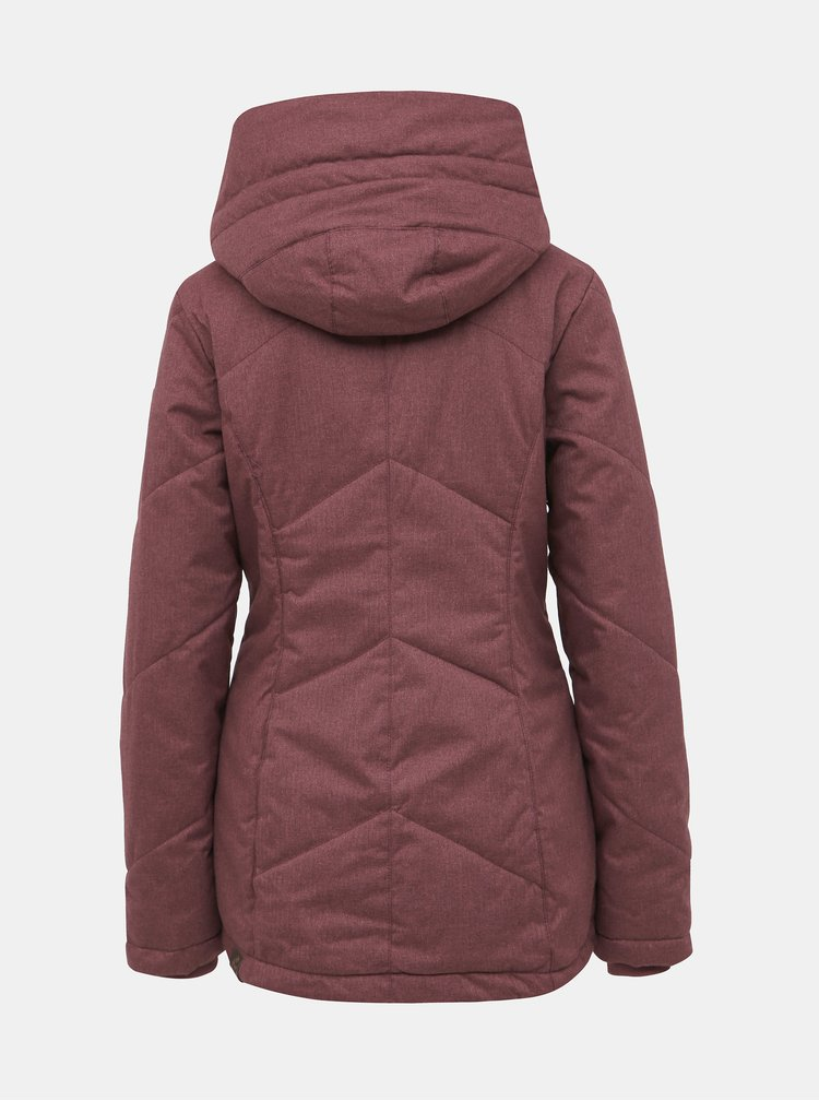 Vínová dámská funkční zimní bunda Ragwear Gordon