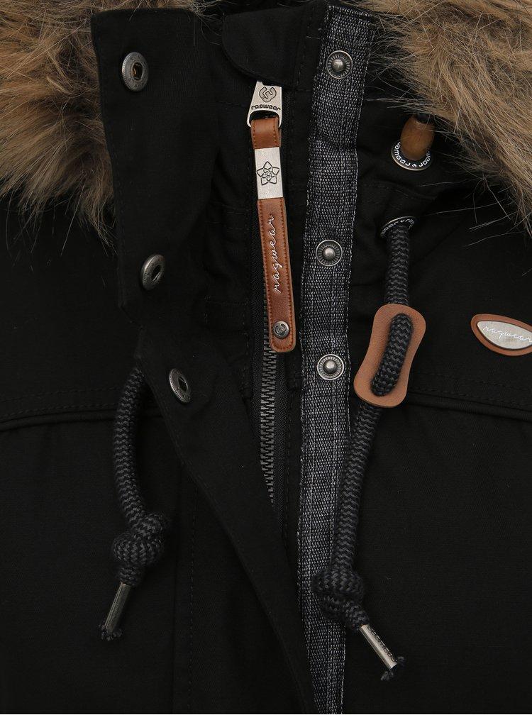 Černá dámská zimní parka Ragwear Tawny