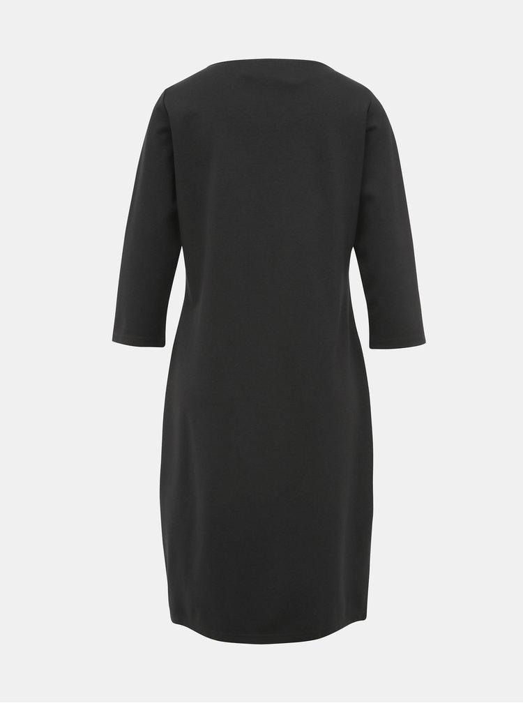 Čierne kvetované šaty Yest