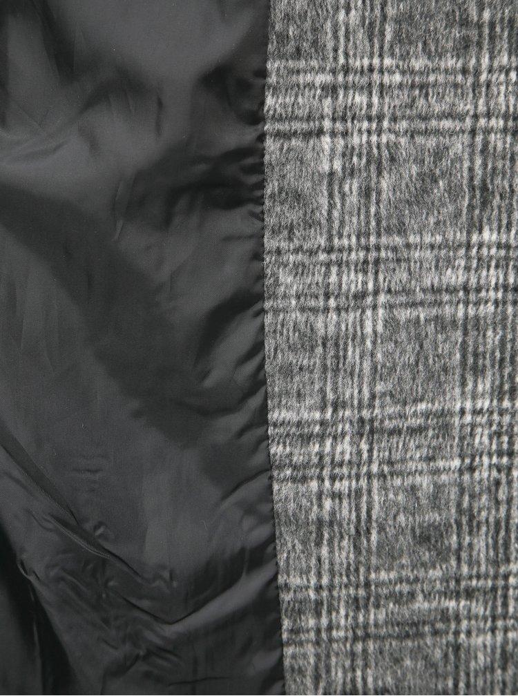 Šedý kockovaný kabát Yest