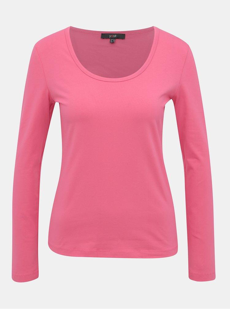 Růžové basic tričko Yest