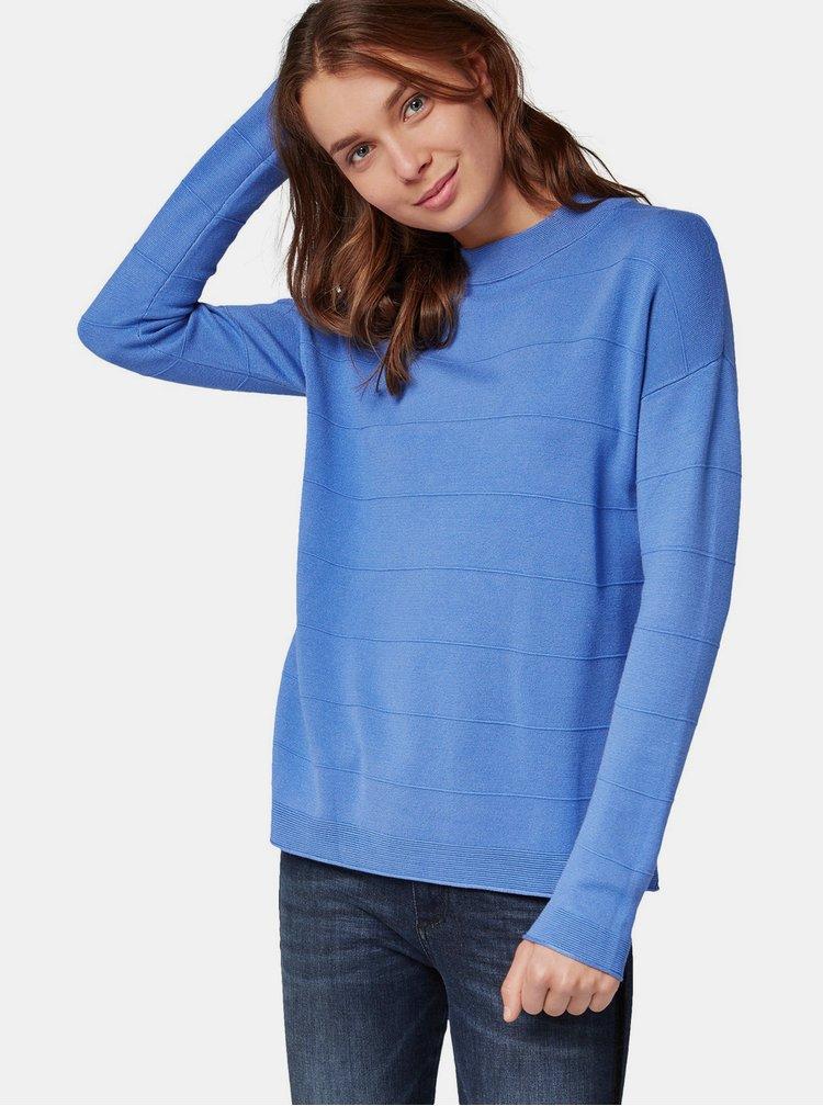 Modrý dámsky sveter Tom Tailor