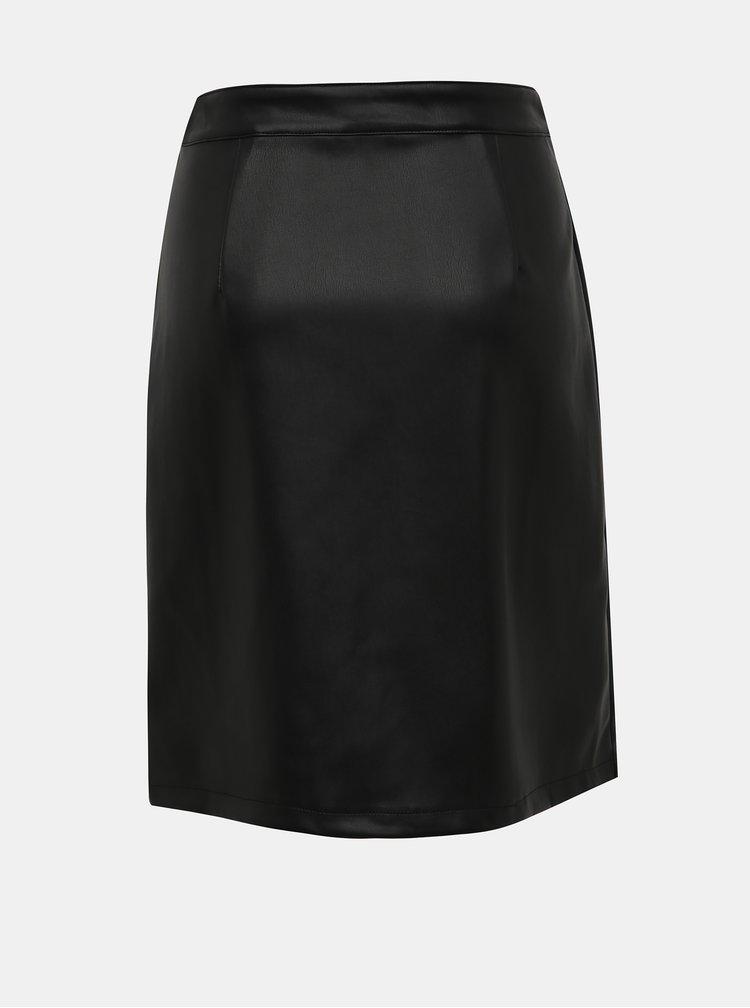 Čierna koženková sukňa VILA Jasa